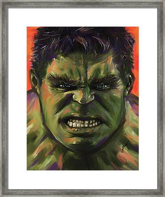 The Hulk Framed Print by Julianne Black