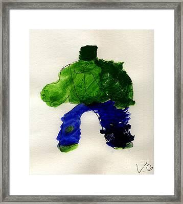 The Hulk Framed Print by Vincent Gitto