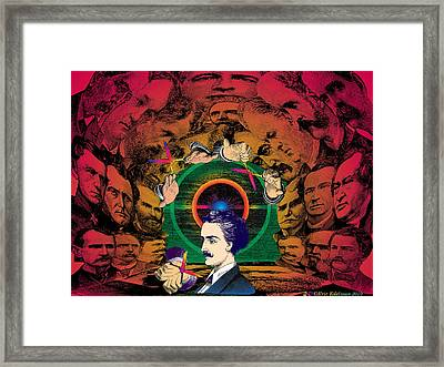 The Human Cave Framed Print by Eric Edelman
