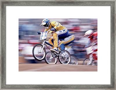 The Human Dragster, Tommy Brackens 1985 Framed Print