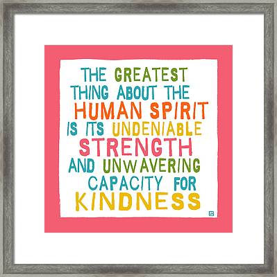 The Human Spirit Framed Print