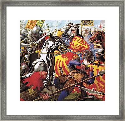 The Hundred Years War  The Struggle For A Crown Framed Print by Pat Nicolle
