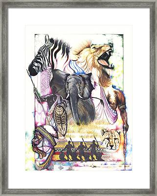 The Hunt Framed Print by Anthony Burks Sr