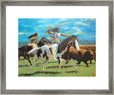 The Hunt Framed Print by Charles Vaughn