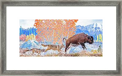 Framed Print featuring the digital art The Hunt by Ray Shiu