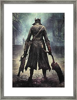 The Hunter - Bloodborne Framed Print by Taylan Apukovska