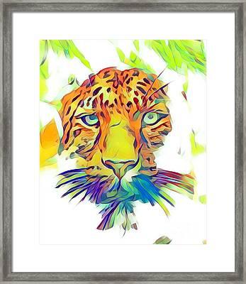 The Hunter - Jaguar Abstract Framed Print