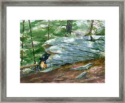 The Hunter Framed Print by Jeff Mathison