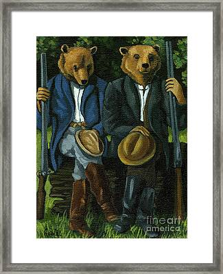 The Hunters - Bears Painting Framed Print