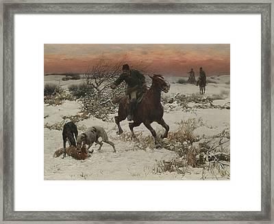 The Hunters Framed Print by Alfred Kowalski