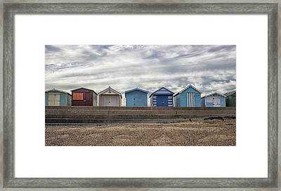 The Huts Framed Print by Martin Newman