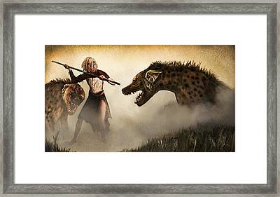 The Hyaenodons - Allie's Battle Framed Print by Mandem