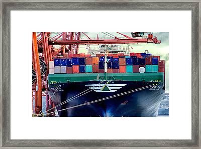 Framed Print featuring the photograph The Hyundai Faith Seattle Washington by Michael Rogers