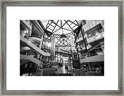 The Icc And Symphony Hall Interior Atrium Birmingham Uk Framed Print by Joe Fox