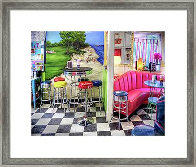 The Ice Cream Shoppe In Duval, Wa Framed Print