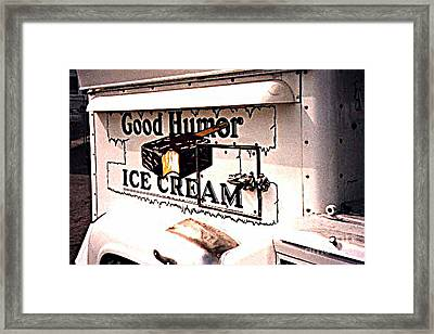 The Ice Cream Truck Is Here Framed Print