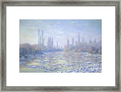 The Ice Floes Framed Print by Celestial Images