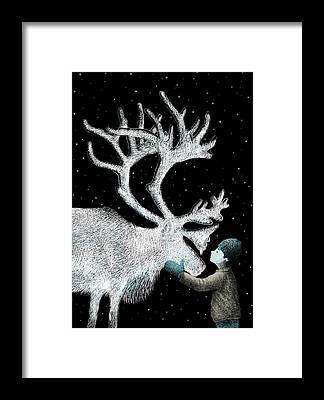 Mittens Framed Prints