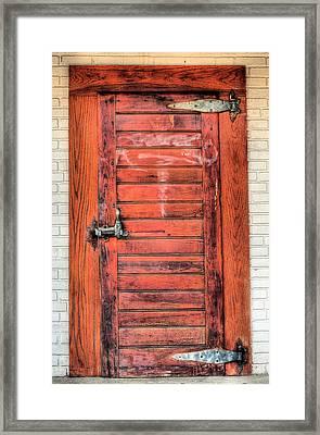 The Ice House Door Framed Print