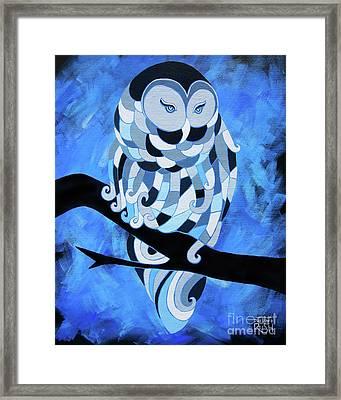 The Ice Owl Framed Print