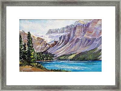 Along-the-icefield-parkway Framed Print by Nancy Newman