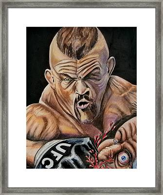 The Iceman Knocks Out A Guys Eye. Framed Print by Chris Benice