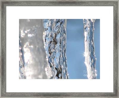 The Iceman Screameth Framed Print by Roxy Riou