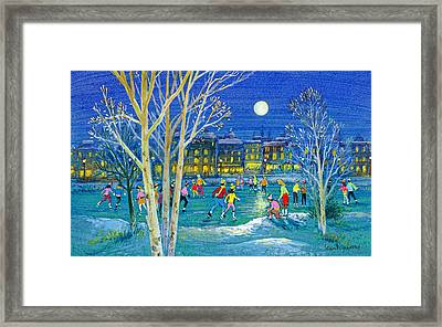 The Iceskaters Framed Print by Stanley Cooke
