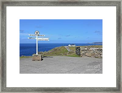 The Iconic Lands End Framed Print by Terri Waters