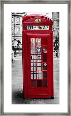 The Iconic London Phonebox Framed Print