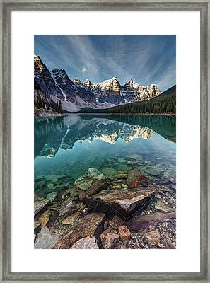 The Iconic Moraine Lake Framed Print