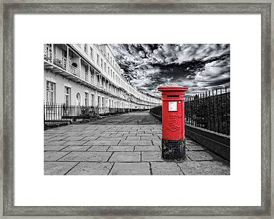 The Iconic Royal York Crescent In Clifton , Bristol , Uk Framed Print by Alex Hardie