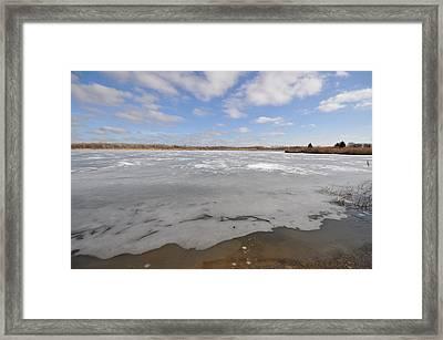 The Icy Lake Framed Print