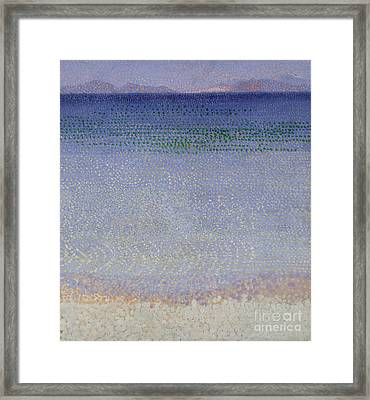The Iles Dor Framed Print by Henri Edmond Cross