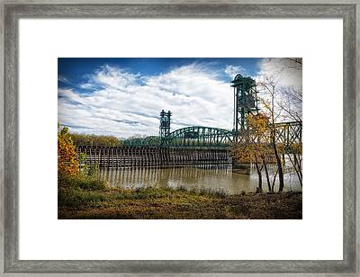 Framed Print featuring the photograph The Illinois River by Cindy Lark Hartman