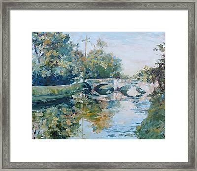 The Illinois Street Bridge Indianapolis Framed Print by Azhir Fine Art
