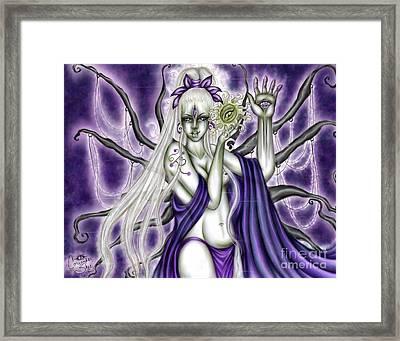 The Illumination Of Asteria Nyx Framed Print by Coriander  Shea
