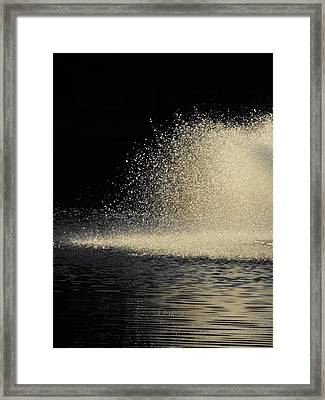 The Illusion Of Dark And Light With Water Framed Print