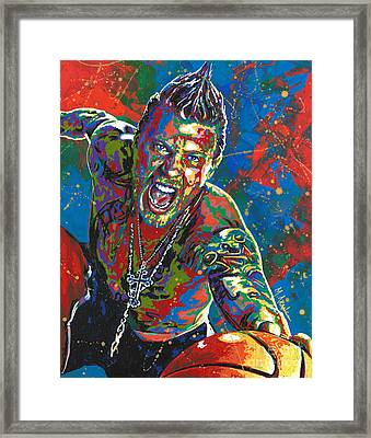 The Illustrated Man Framed Print by Maria Arango