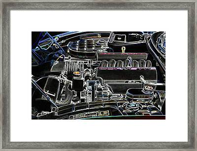 The Image Of A Car Engine Compartment Framed Print by Lanjee Chee