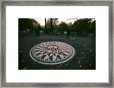 The Imagine Mosaic, A Memorial To John Framed Print by Melissa Farlow