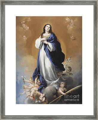 The Immaculate Conception  Framed Print by Bartolome Esteban Murillo
