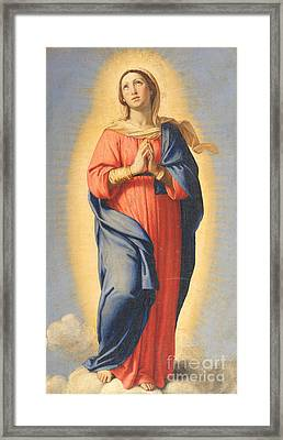 The Immaculate Conception Framed Print by Il Sassoferrato