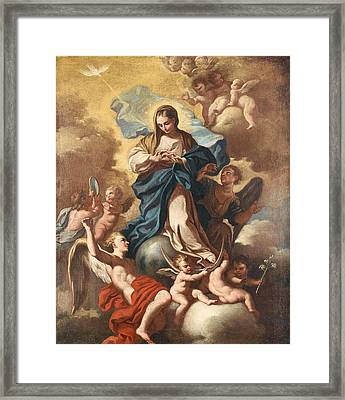 The Immaculate Conception Framed Print by Paolo de Maio