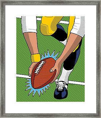 The Immaculate Reception Framed Print by Ron Magnes