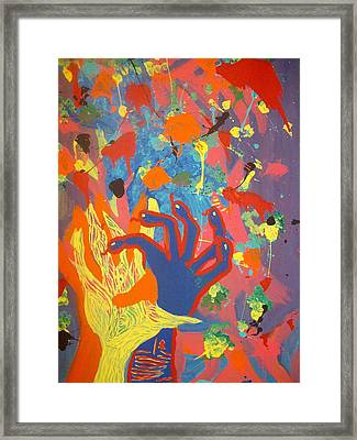 The Impossible Stretch Framed Print by Samantha  Gilbert