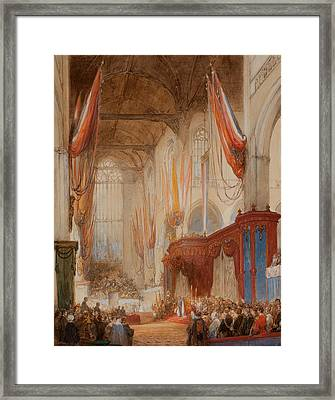 The Inauguration Of King Willem IIi Framed Print by Johannes Bosboom