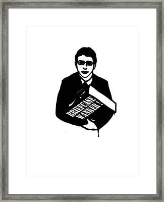 The Inbetweeners -  Briefcase Wanker Framed Print by Paul Telling