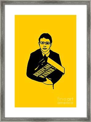 The Inbetweeners Briefcase Wanker Framed Print by Paul Telling