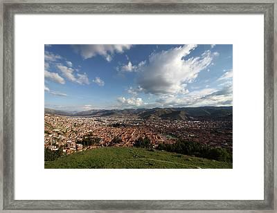 Framed Print featuring the photograph The Inca Capital Of Cusco by Aidan Moran